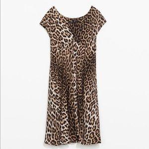 Zara Woman Leopard Print Dress
