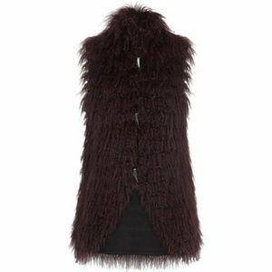 Bcbg real fur vest