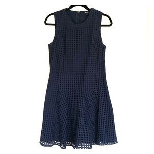 Madewell navy dress with cut outs