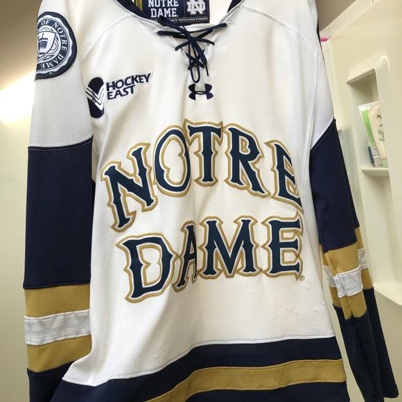 best sneakers 5f4e0 4ca9d Notre Dame hockey jersey blank