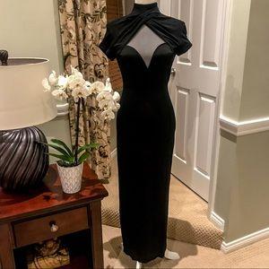 VTG Tadashi Shoji Sheer Back Long Gown