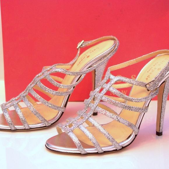 0b2206e1aaae Kate Spade Caryl Silver Metallic Shoes - 8