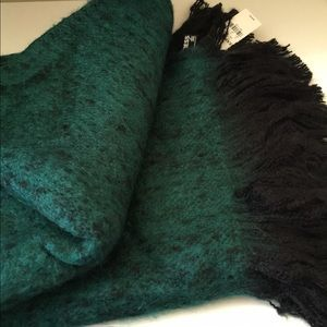 Express Oversized Fuzzy Green  Blanket Scarf