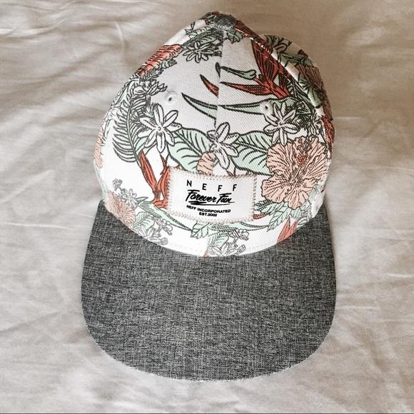 9d09cf684cc NWOT Zumiez Neff White Floral Baseball Hat Cap. M 5a0c698741b4e0e64a003c98