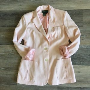 100% Silk RALPH LAUREN Rare Pocketed Blazer