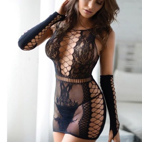 2ca6b99200a Plus Size fishnet bodystocking lingerie