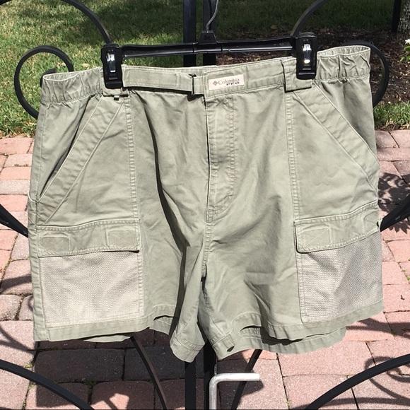 d54c4b29bf Columbia Other - Men's COLUMBIA PFG Olive Green Fishing Shorts XL