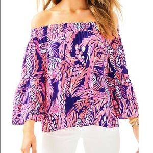 Lilly Pulitzer Tobyn Off the Shoulder XS