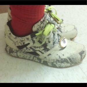 Melody Ehsani x Reebok Snakeskin Sneakers