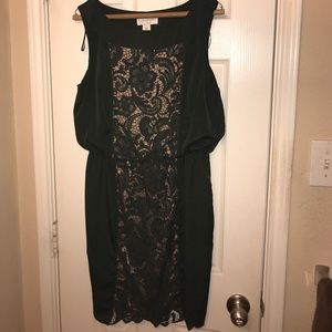 Jessica Simpson Army Green and tan dress