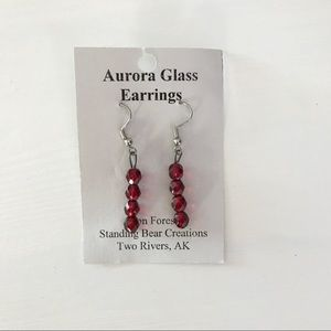 Jewelry - Hand-made Aurora Glass Earring from Two Rivers, AK