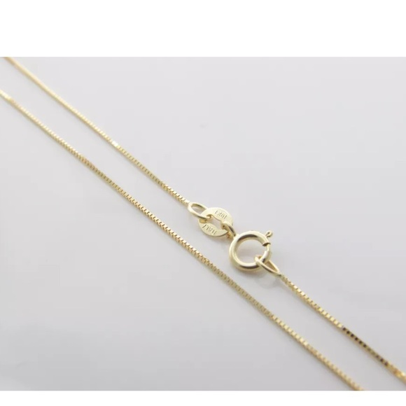 98d5c8d01fb9c Solid Yellow Gold Box Chain 24