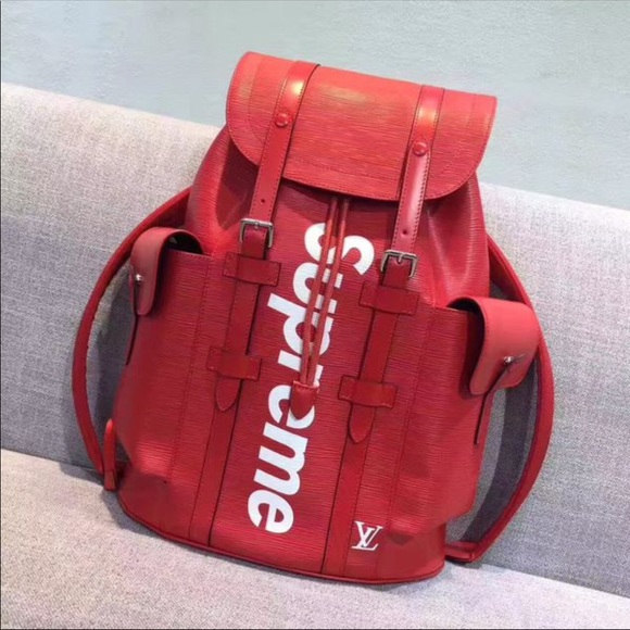 b53355cee8d Supreme x Louis Vuitton backpack (red) NWT