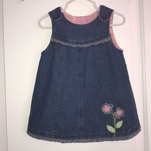 Faded Glory jean denim baby dress size 18 months
