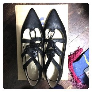 Topshop lace up pointed flats