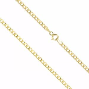 """SOLID Yellow Gold Solid Cuban Curb Chain 26"""" NEW"""