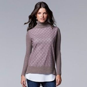 Simply Vera Vera Wang  Turtleneck sweater XL