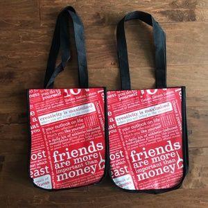2 Lululemon Small Shopper Bags