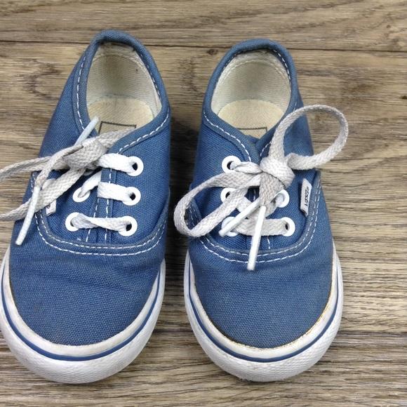 e90df50dfb4d Vans Kids Authentic Blue w Laces Shoes Toddler sz5.  M 5a0c7853fbf6f990f700701b