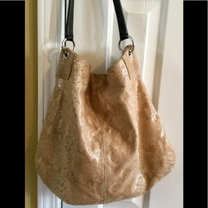 Banana Republic shoulder hobo bag, faux snake skin