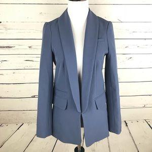 Asos Womens Blue Lined Blazer Long Sleeve Sz US 2
