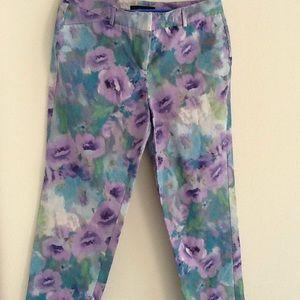 Larry Levine floral pants 💘💖💝💋