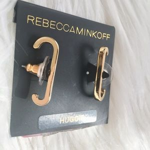 Rebecca Minkoff | Gold bar huggie earring NWT