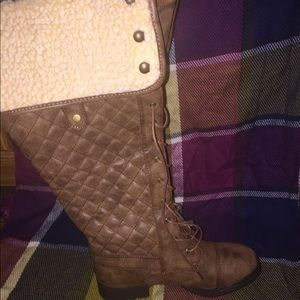 NEW Size: 7.5W Tan Knee-high boots from JustFab
