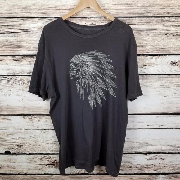 e0915330822131 VANS Skull Indian Headdress Premium T-Shirt Sz XL.  M 5a0c7cfefbf6f9a3d90083f9