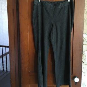 Boot cut elastic waist pants
