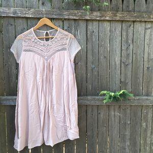 BNWT Xhilaration Lavender Babydoll Mesh Dress