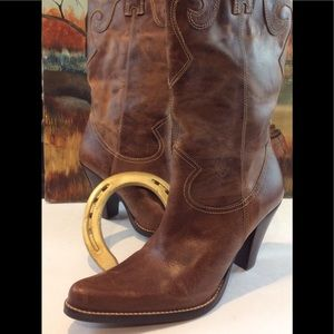 STEVEN By Steven Madden LEATHER Cowboy  Boot sz 8M