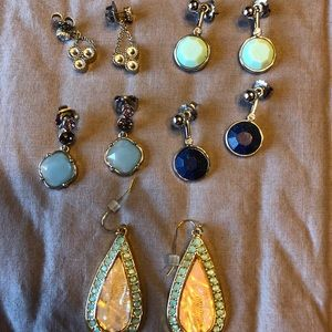 Lot of Lia Sophia earrings