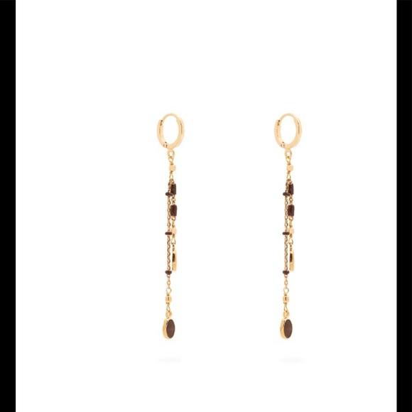 430506e76d Isabel Marant Jewelry - Casablanca drop brass resin earrings Isabel marant