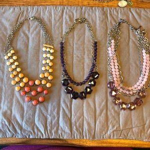 Lot of Lia Sophia necklaces