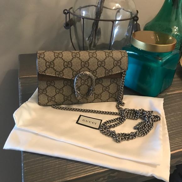 84c87559872 Gucci Handbags - Authentic Gucci super mini dionysus crossbody bag