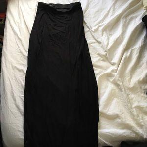 Maxi skirt with left side slit
