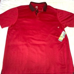 Red golf polo by old navy with tags