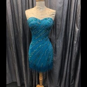 Turquoise Alyce dress