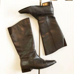 St. John's Bay Shoes - St. John's Bay • Dark Brown Riding Boots