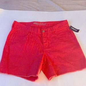 Old navy red denim sweetheart shorts size 6 NWT