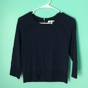 Milly Navy Blue Pullover Top