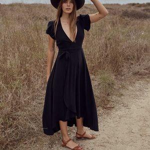 Christy Dawn Autumn Dress in Black Silk XS