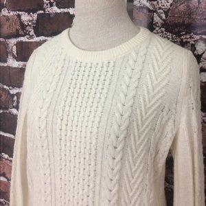 Rag & Bone cable knit wool sweater off white EUC