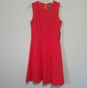 Vince Camuto Fit & Flare Coral Dress