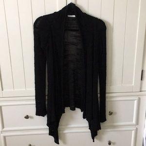 Zara Black Draped Knit Cardigan