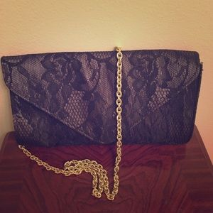 Black Lace Clutch Purse