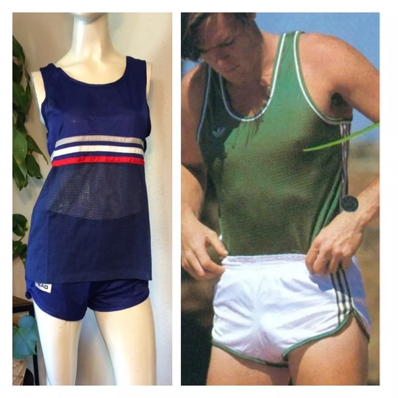 70s TrackSuit Running Shorts Tank Top Bruce Jenner M 5a0c859e680278603600a609