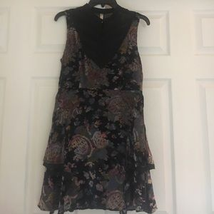 Free People Velvet Accent Lined Sleeveless Dress