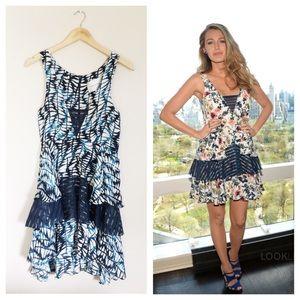 100% Silk [Amour Vert] Ruffled Dress